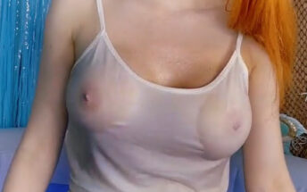 Amouranth X-RAY See Through Wet T Shirt
